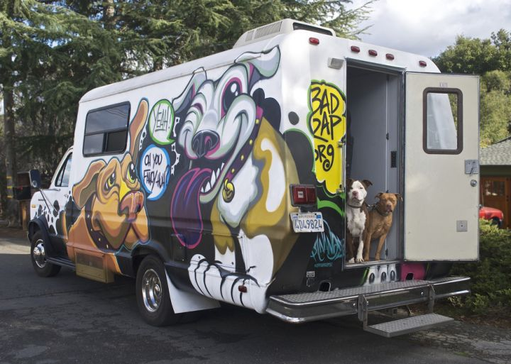 Our mobile spay/neuter van - The Nut Truck!