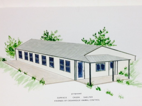 Sketch of the completed new building