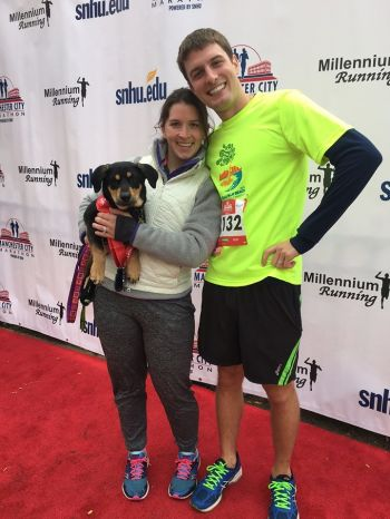 Breaker finished a race with his owners!