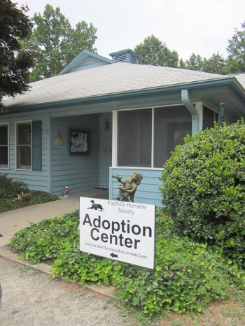 Front entrance to the humane society