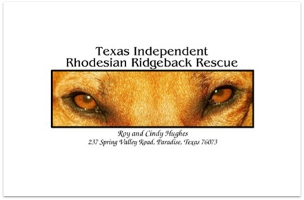 Texas Independent Rhodesian Ridgeback Rescue