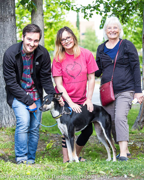 Carrie (Middle) with adopters