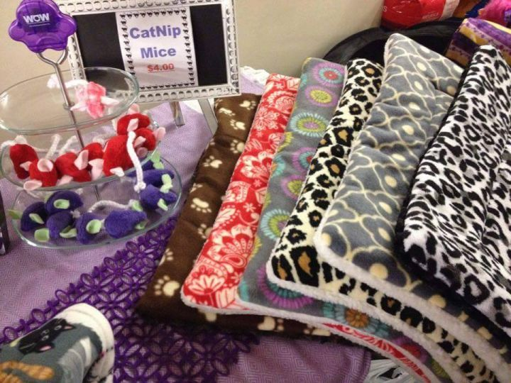 Catnip mice and mats to raise funds