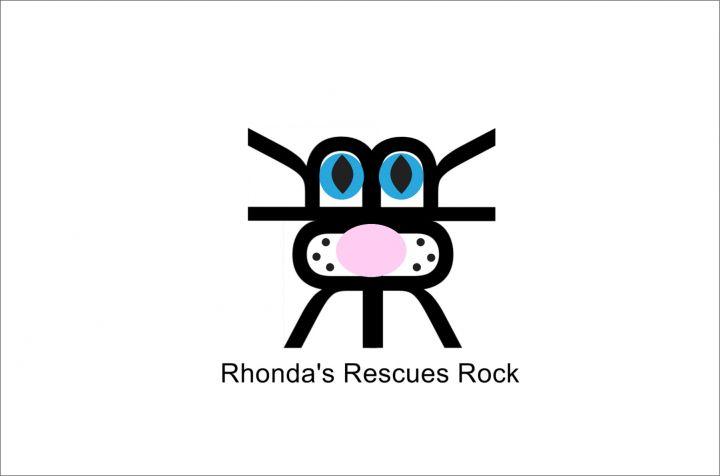 Rhonda's Rescues Rock Logo