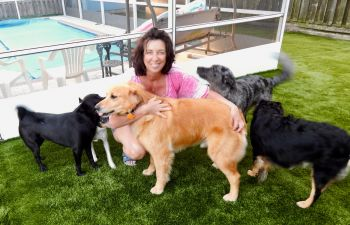 Carey and some of the incoming Pups