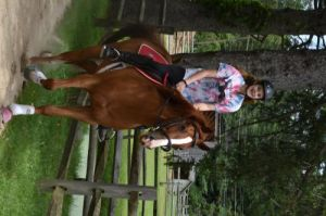 Gus is a 7year old Registered Thoroughbred gelding OTTB that loves the trails