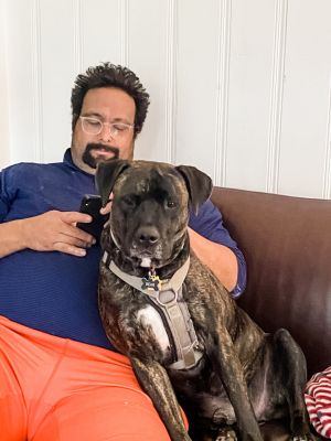 Meet Guiness Guiness is a two year old labMastiff mix He spent his first few months petrified in